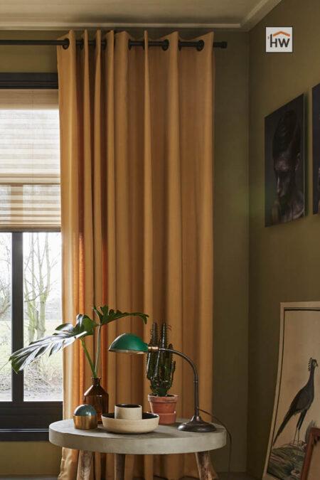 HW Huis & Wonen Gorinchem Plisse en overgordijnen met ingeslagen ringen