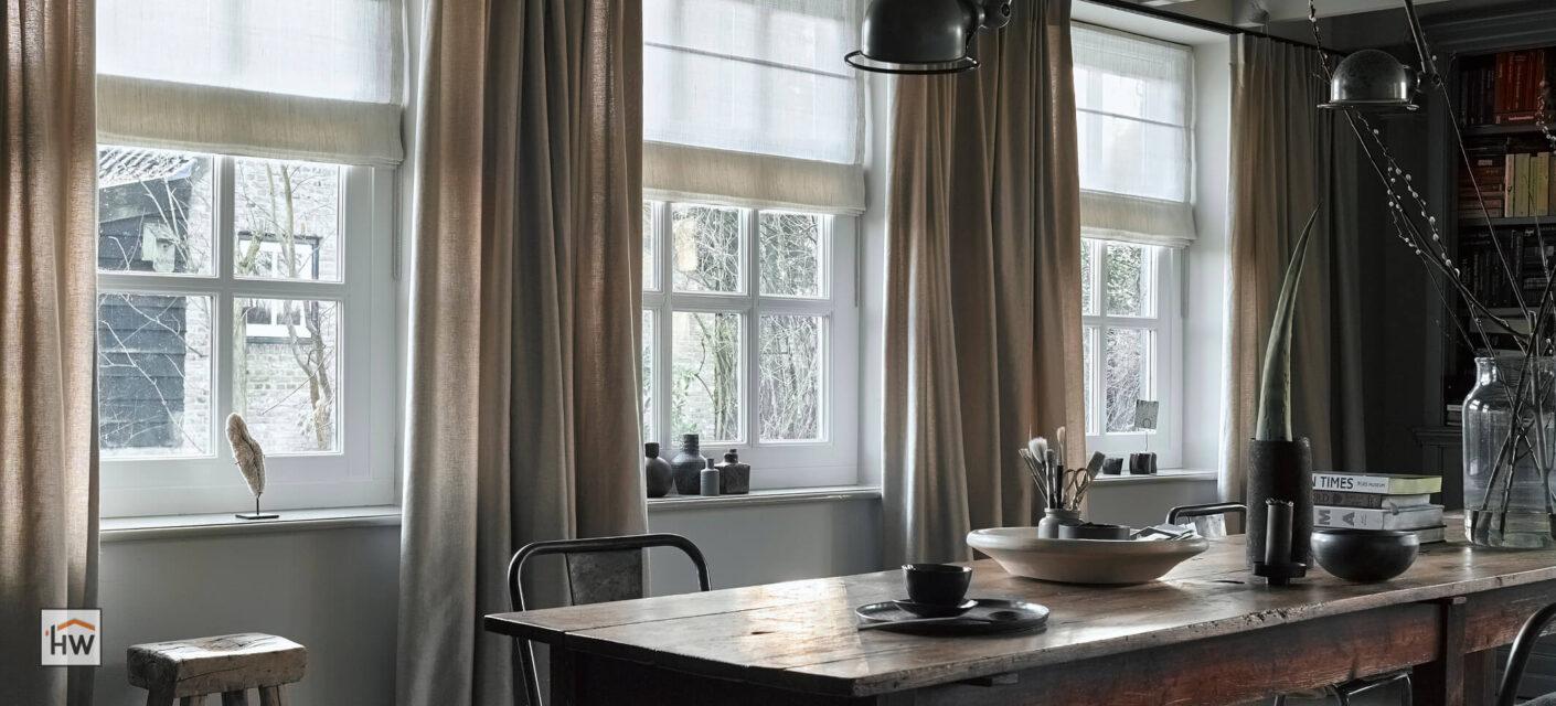 HW Huis & Wonen Gorinchem vouwgordijnen en overgordijnen op roede