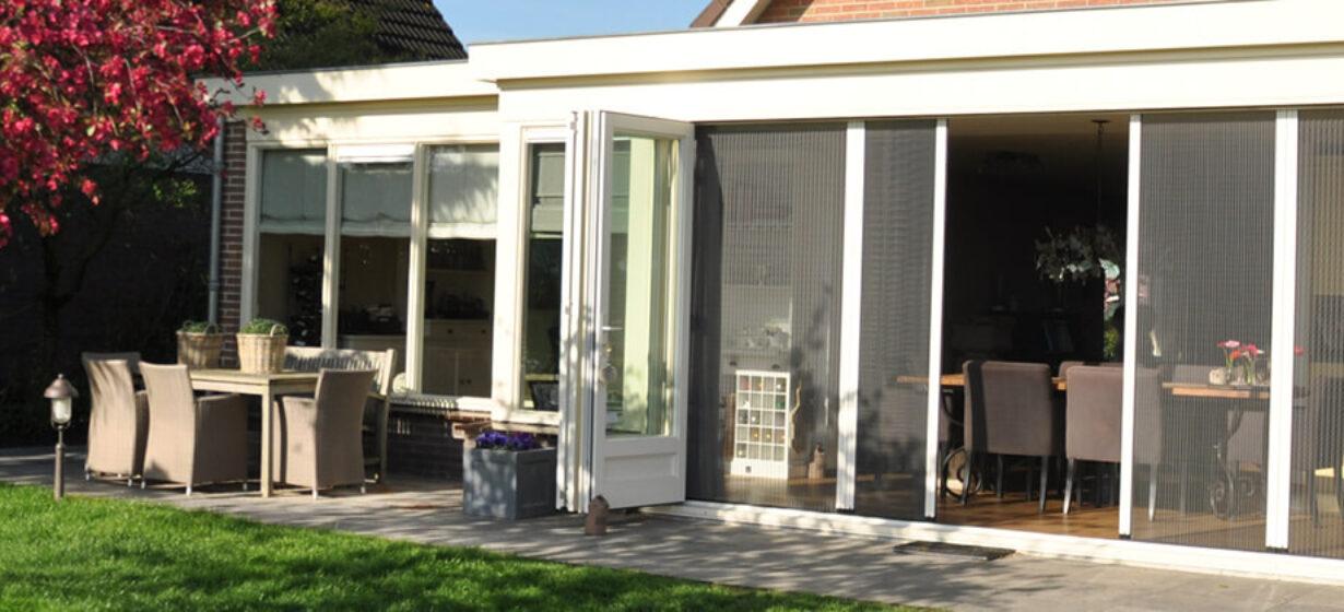 HW Huis & Wonen Gorinchem Plissehordeur tuin openslaande deuren