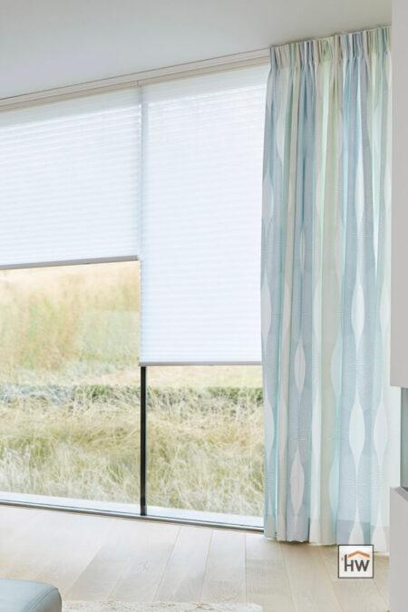 HW Huis & Wonen Gorinchem plisse met inbetweens woonkamer