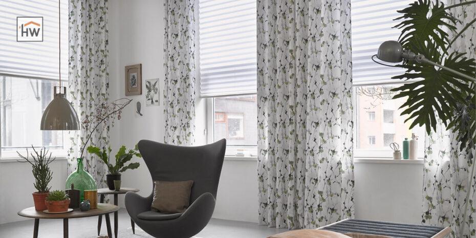HW Huis & Wonen Gorinchem Bloemengordijnen met plissé