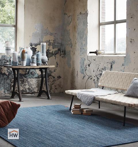 HW Huis & Wonen Gorinchem Vloerkleed blauw